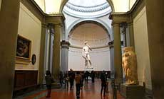 Michelangelo's David on Accademia Gallery